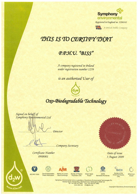 BISS Certificate d2w